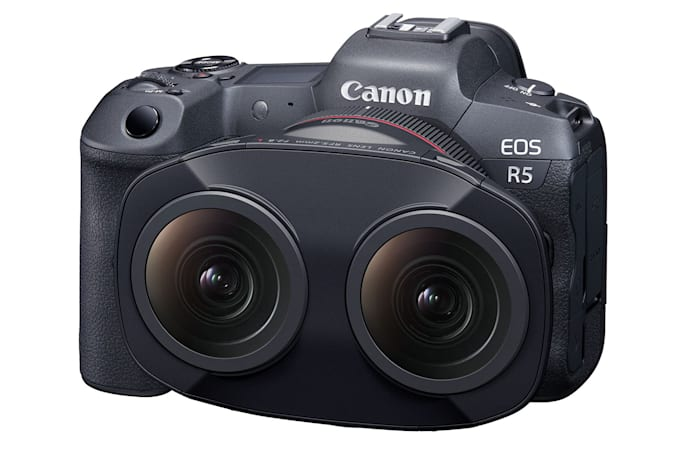 Canon created a dual fisheye lens for a new VR video system