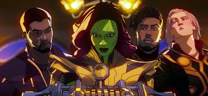 T'Challa, Gamora, Killmonger, Thor