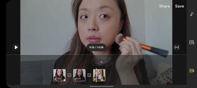 Galaxy S20 Ultra video editor screenshot