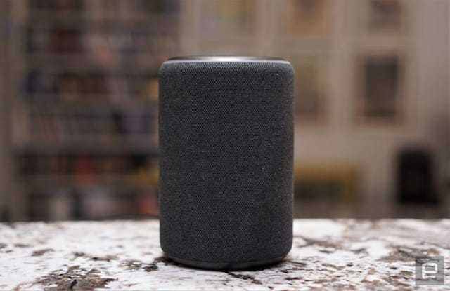 Amazon Echo 3rd gen smart speaker.
