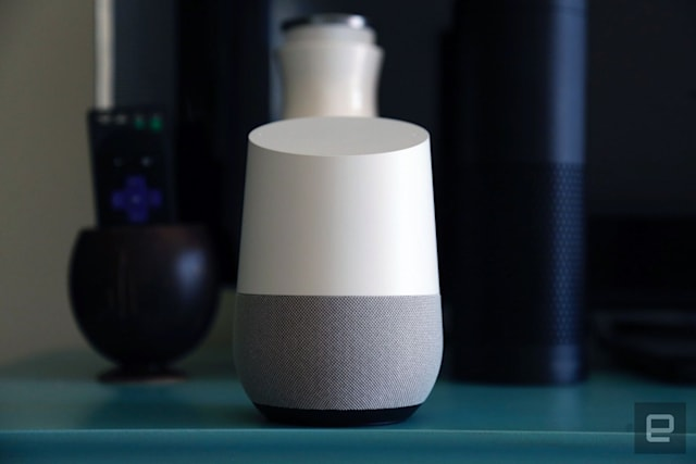 Google Home smart speaker.