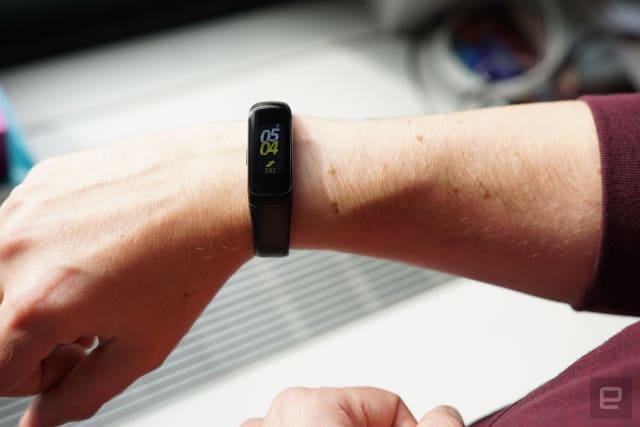 Samsung Galaxy Fit fitness tracker.