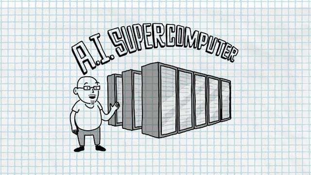 Microsoft Build 2020 supercomputer illustration. Yes, seriously, this is what the company provided.