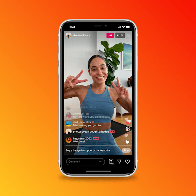 Instagram influencers will be able to sell badges in live streams.
