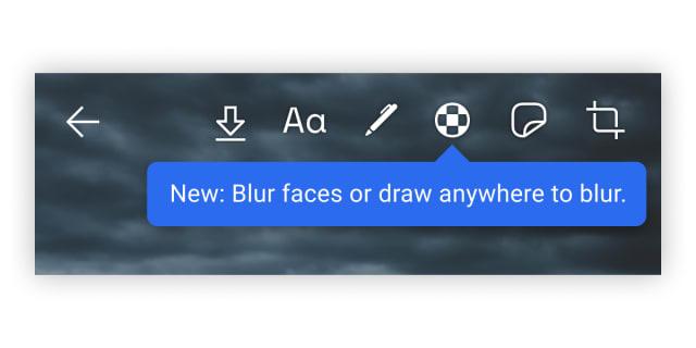 Signal face blurring toolbar