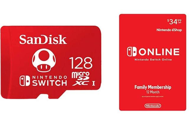 Nintendo Switch Online microSD card bundle