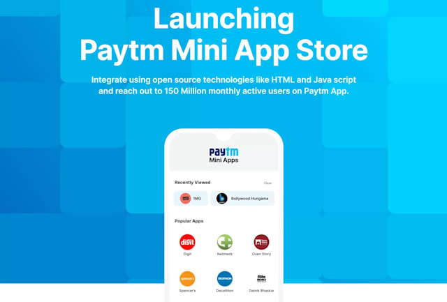 Paytm mini-program store