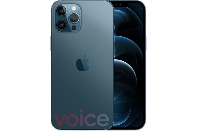 Apple iPhone 12 Pro Max blue leak