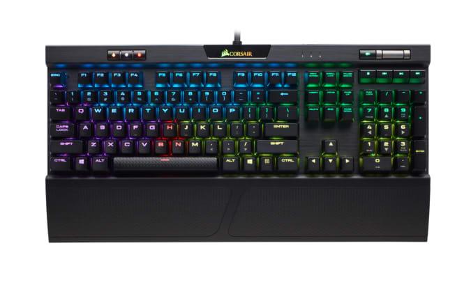 Corsair K70 RGB MK.2 gaming keyboard.