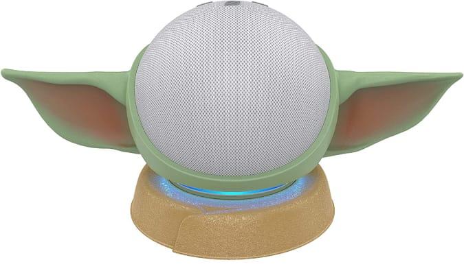 Mandalorian Echo Dot 4th-gen stand