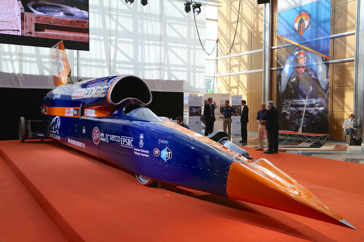A video tour of the 1,000MPH Bloodhound supersonic car