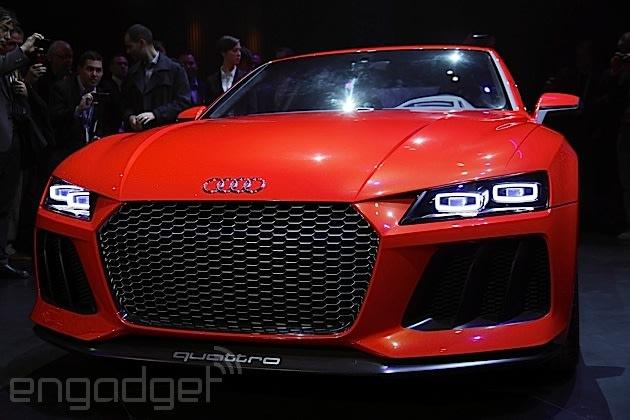 Audis Sport Quattro Laserlight Concept Officially Debuts At CES - Car laser light show