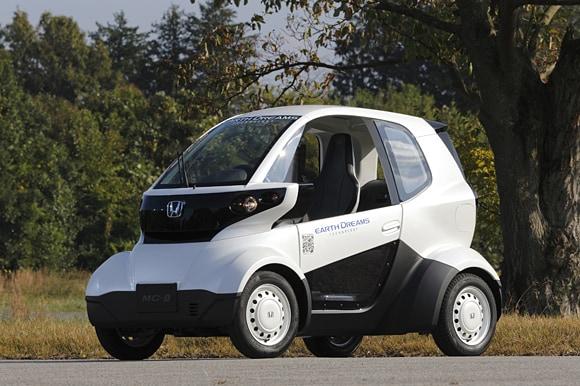 Honda introduces the MCbeta a microsized electric car thats
