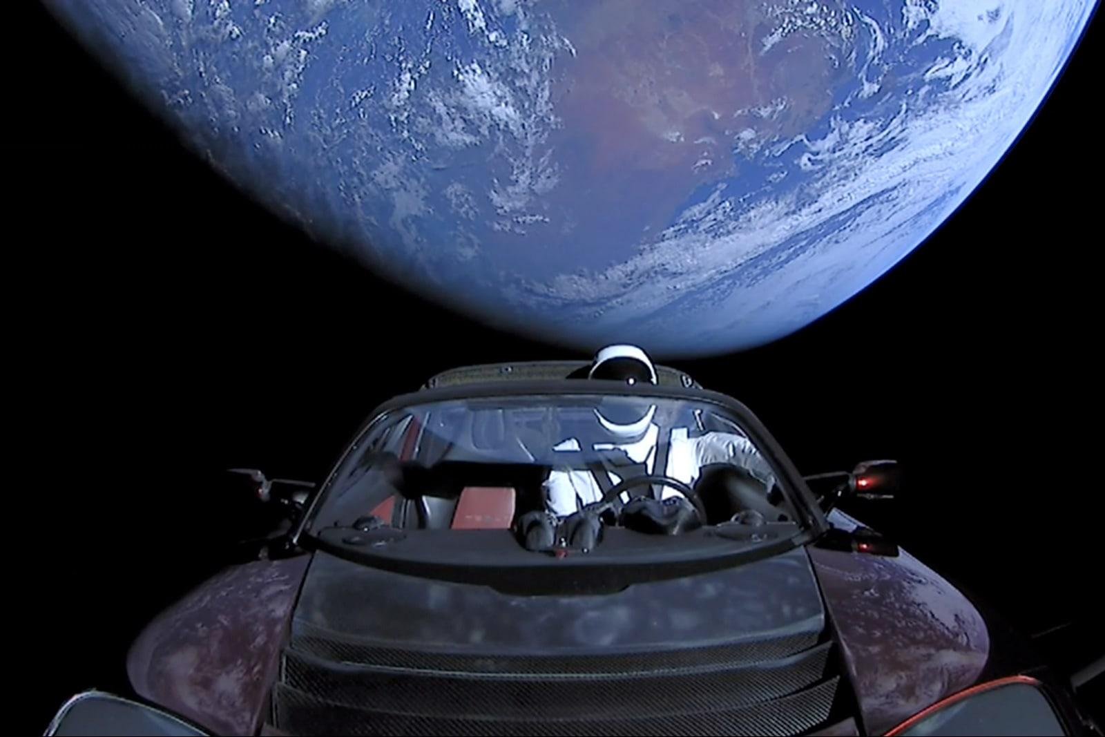 Website follows journey of Elon Musk's Tesla Roadster through space
