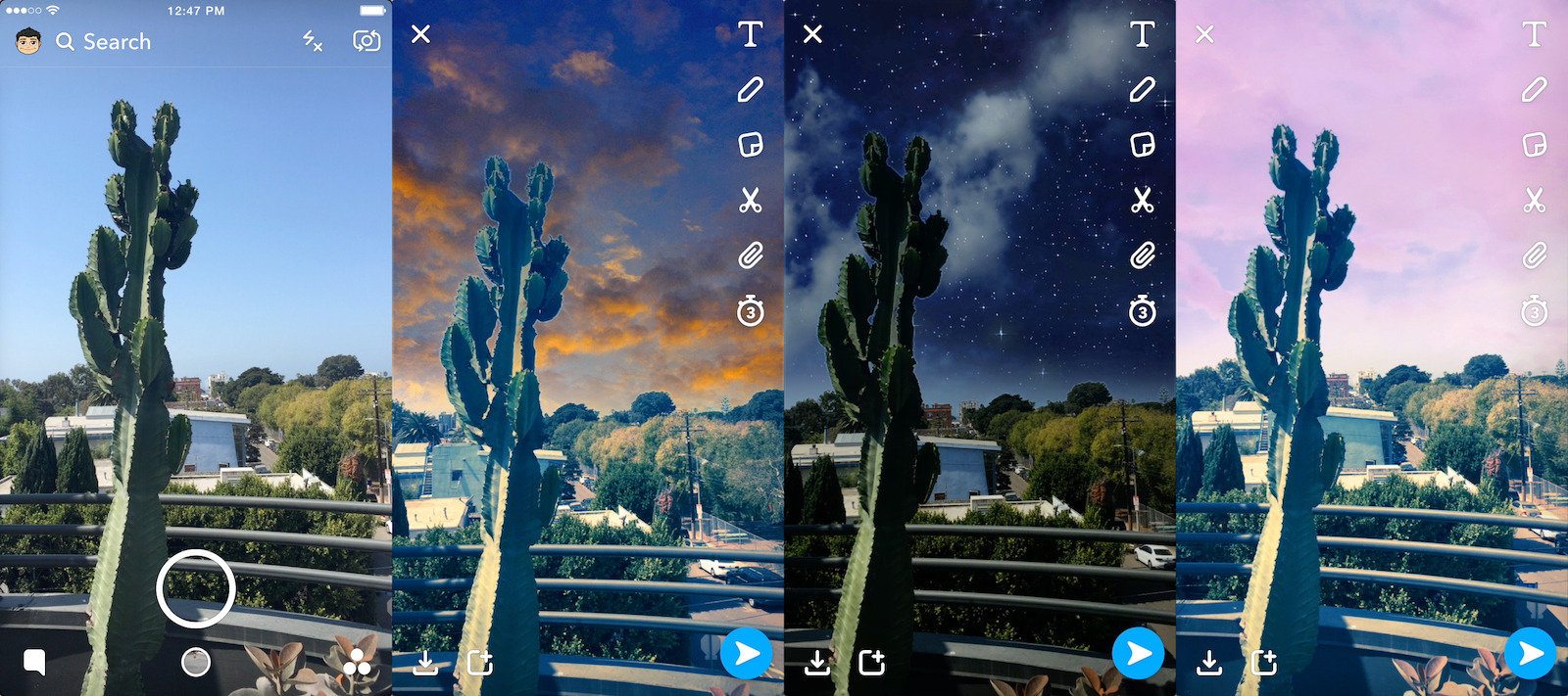 Snapchats new filters make your photo backgrounds look surreal snapchat ccuart Image collections