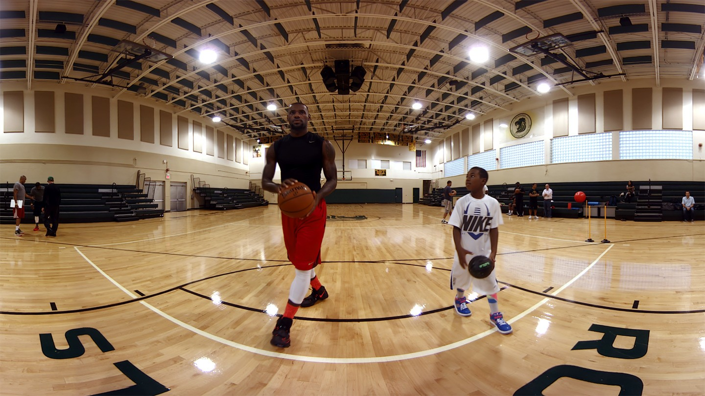 Watch LeBron James Training On Your Gear VR