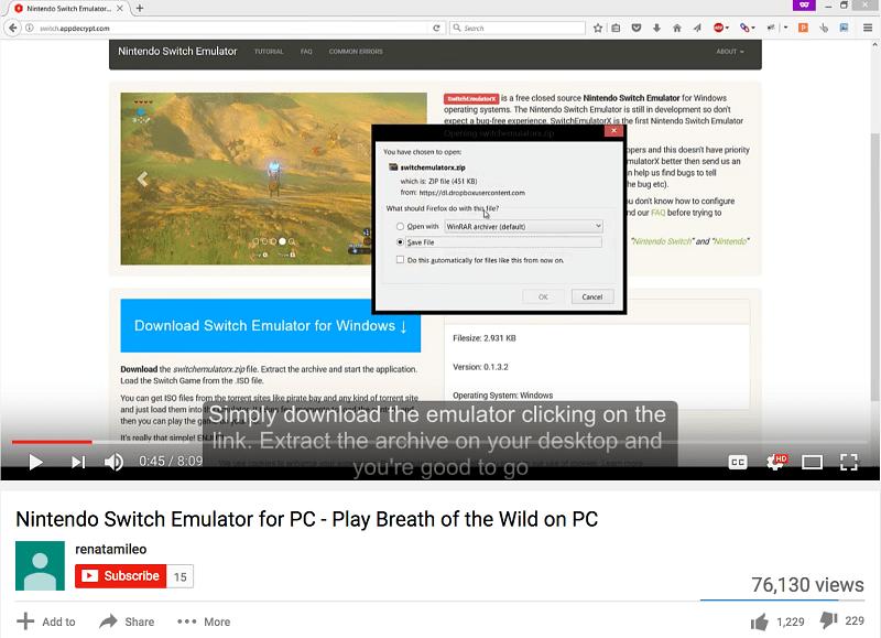 wer bei youtube nach switch emulatoren sucht wird schnell fndig etliche videos bewerben angeblich funktionierende emulatoren darunter sind zahlreiche - Youtube Video Bewerben