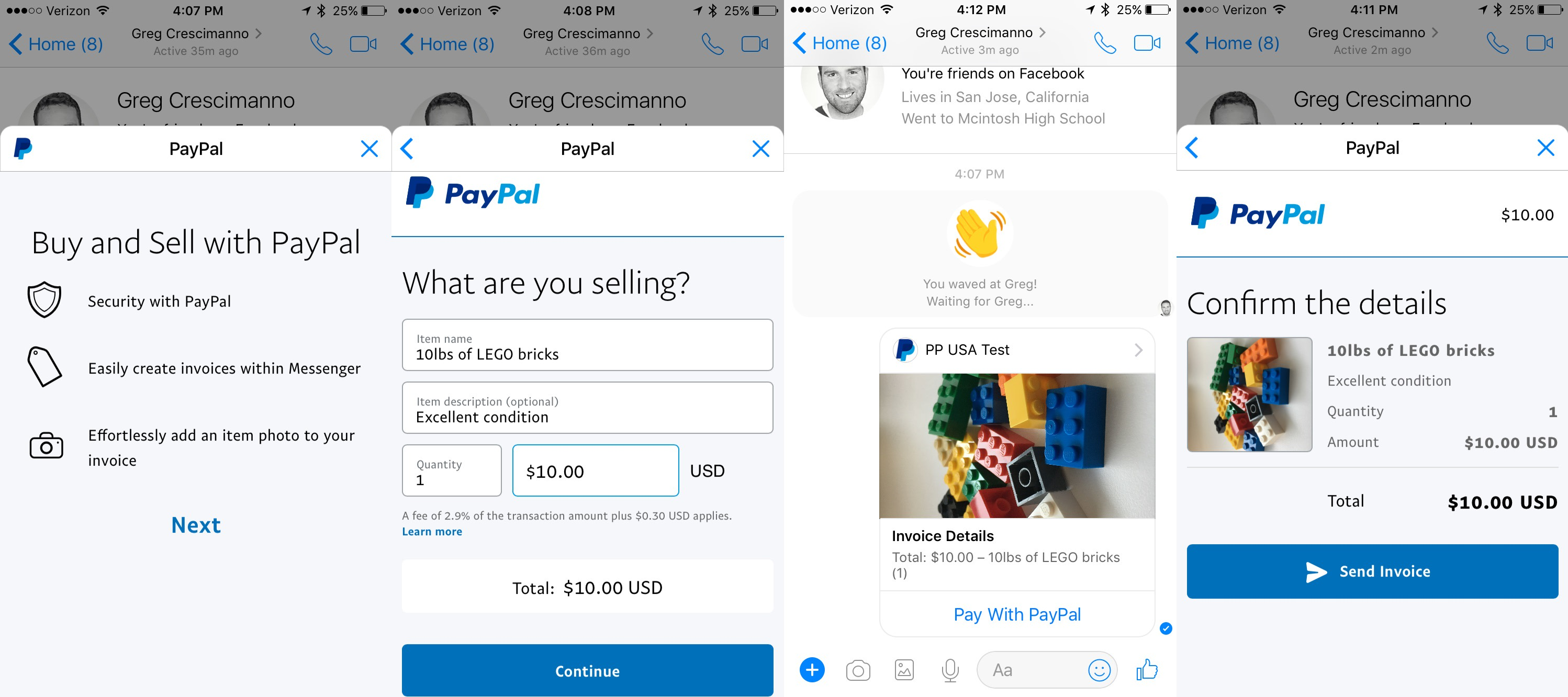 Now You Can Send PayPal Invoices Over Facebook Messenger - What is a invoice on paypal for service business
