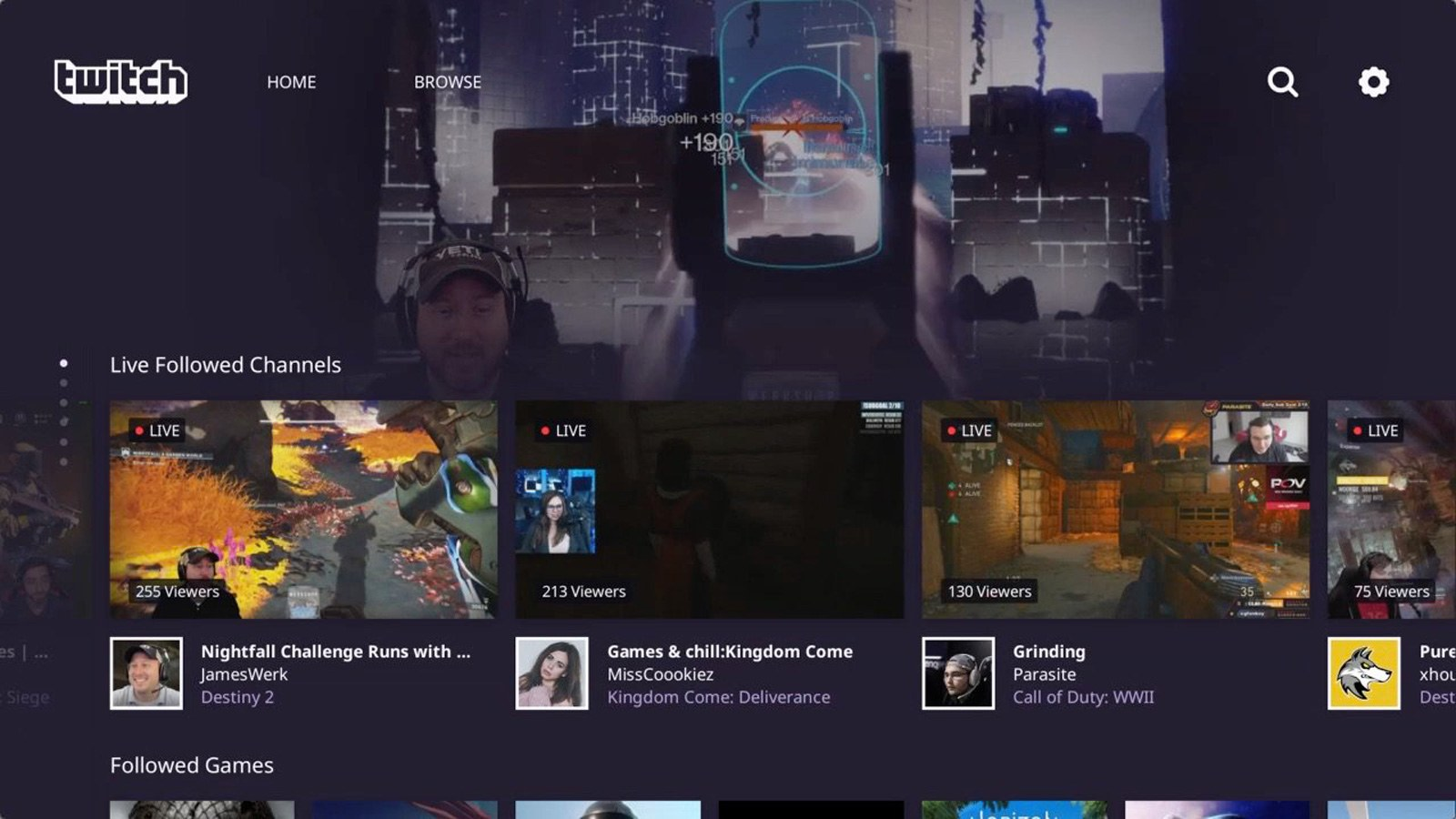 Twitch app for ps4 gets a much needed interface makeover twitchsony stopboris Image collections