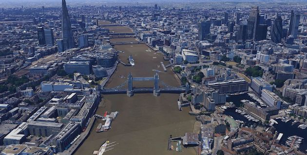 London Virtual Tour With Google Earth Part