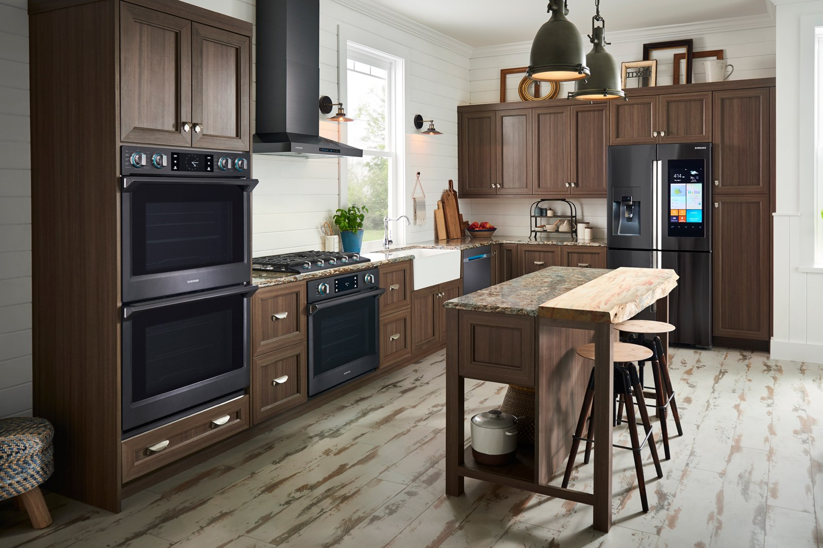 Kitchen Appliances On Credit Samsungs Built In Smart Appliances Blend In With Your Decor