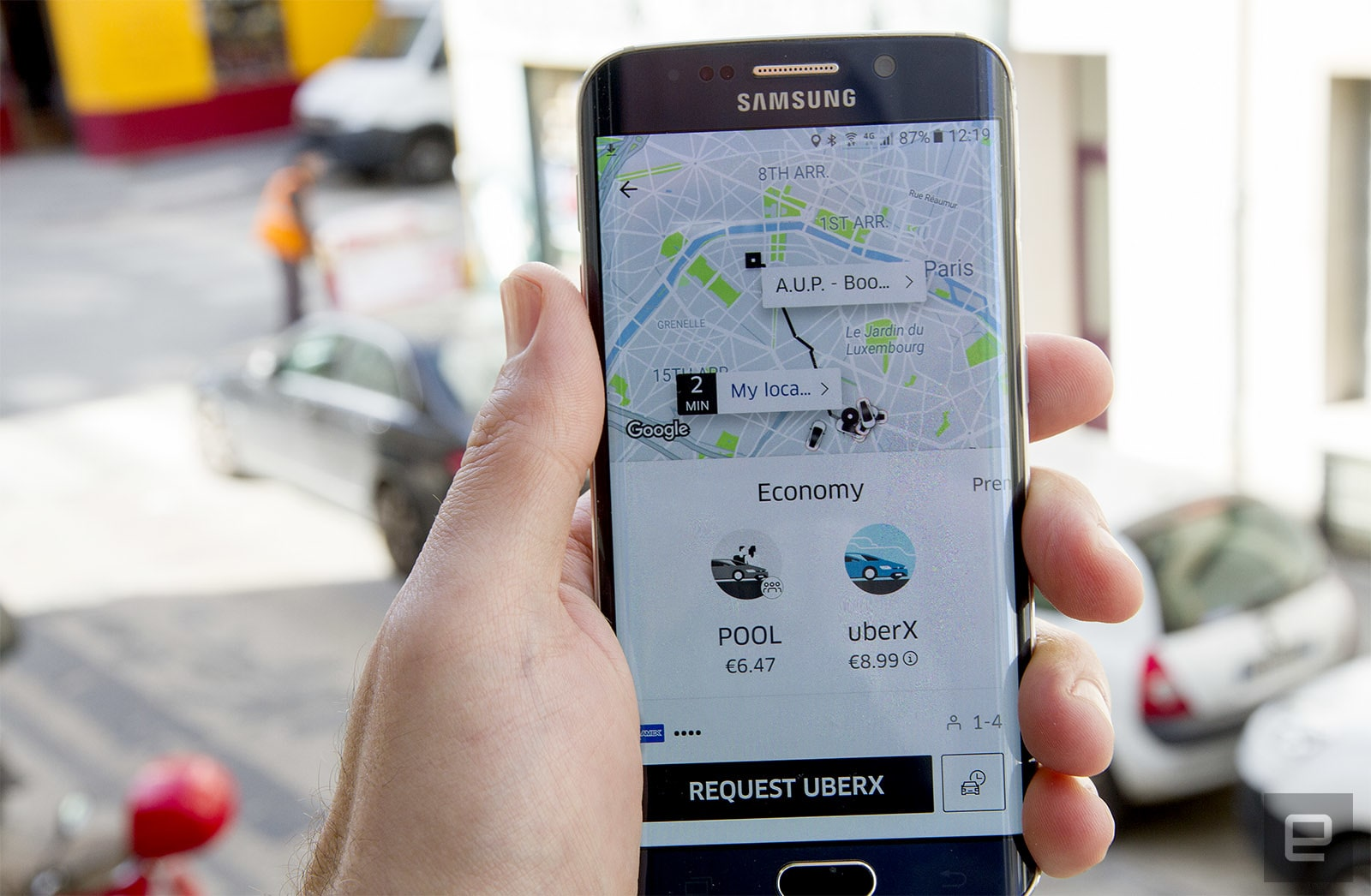 how to change address in uber