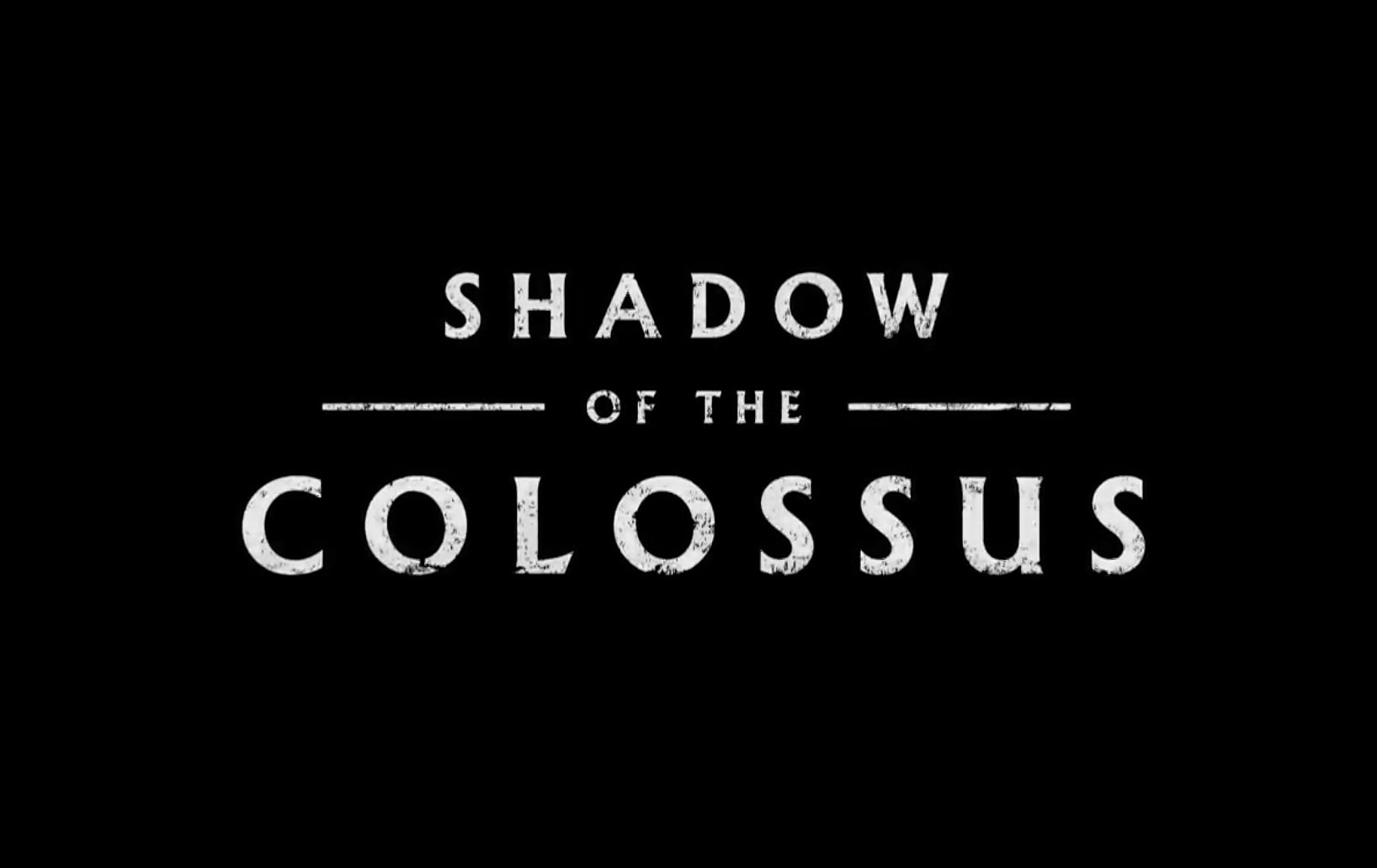 Shadow of the Colossus Announced at E3