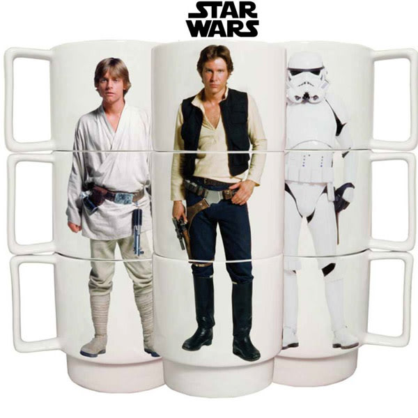Sieht aus wie Boyband: Star Wars-Stapeltassenset