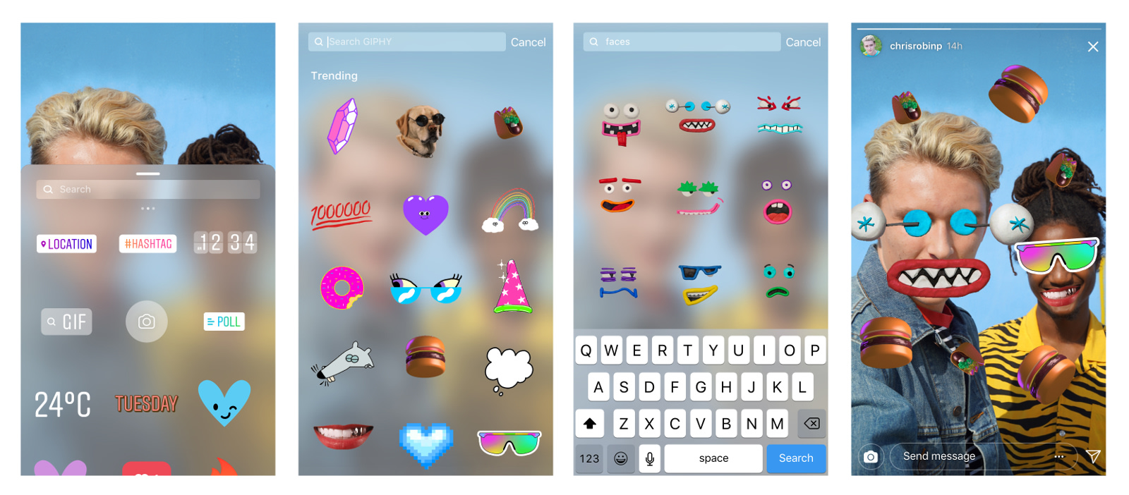 Instagram stories harness the power of giphy for animated stickers instagram ccuart Images