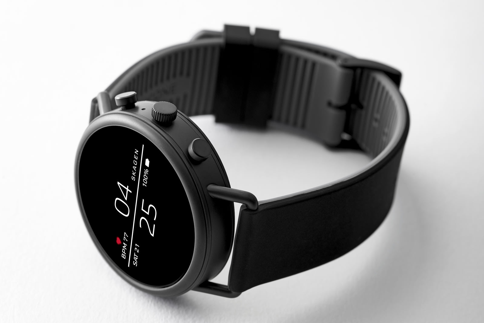 56a756f1c Techmeme: Skagen unveils a minimalist Wear OS-based Falster 2 smartwatch  with a heart-rate sensor, GPS, and NFC, available September 12 and priced  from $275 ...