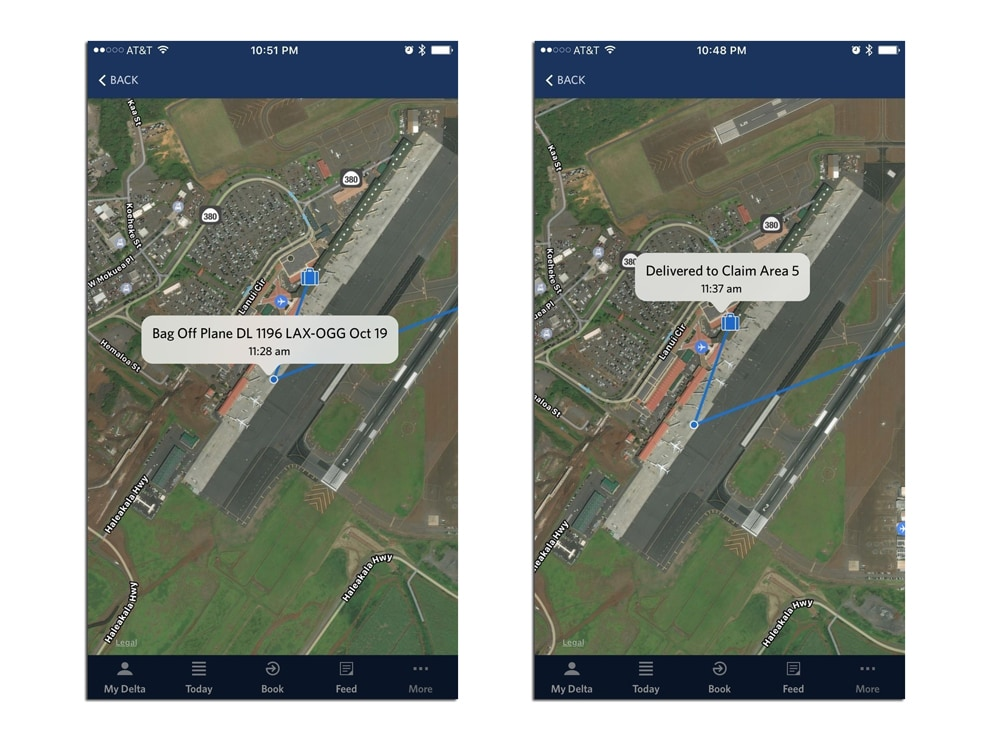 Deltas RFID luggage tracking system now includes a map view – Delta Travel Map