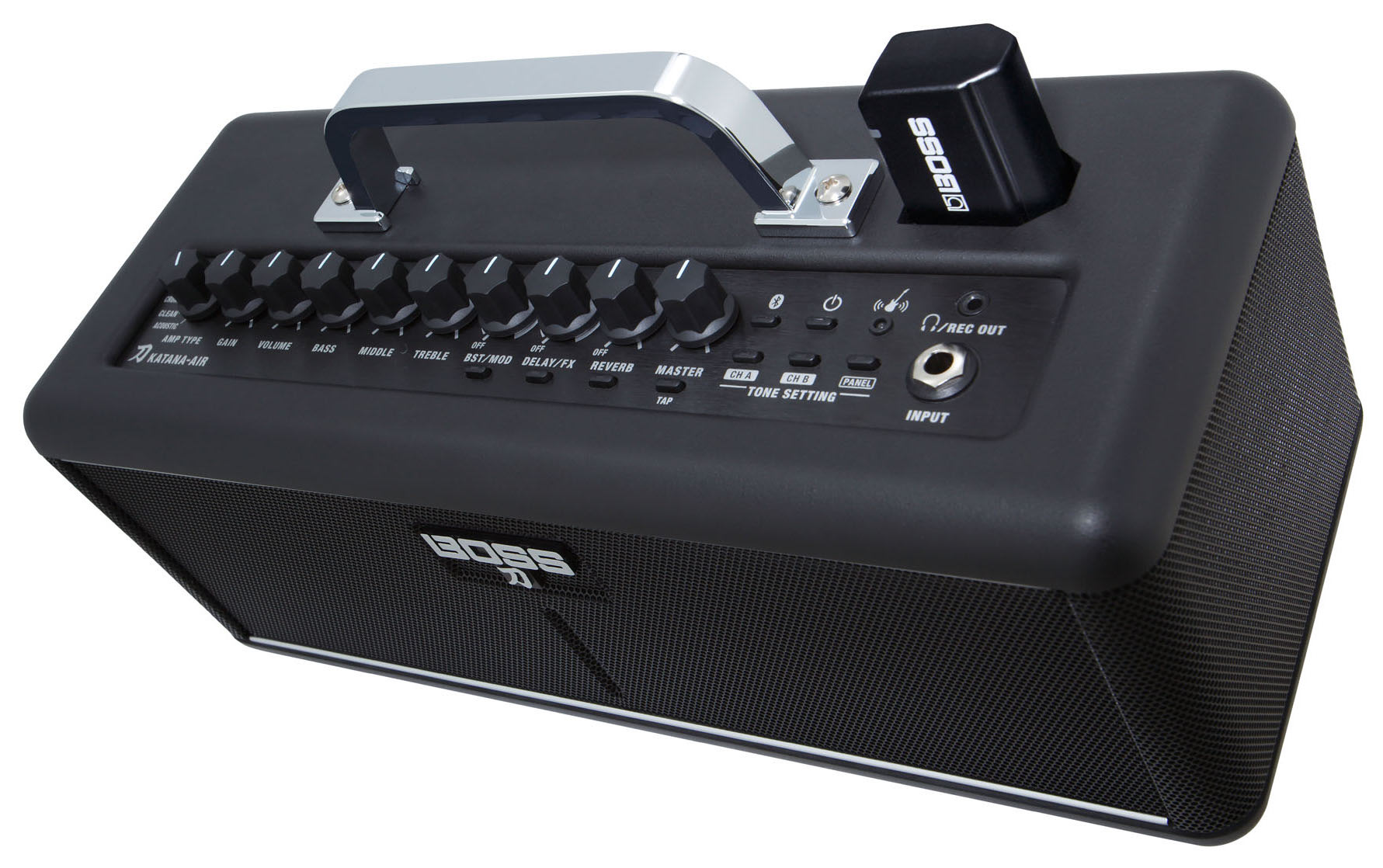 boss katana air is a compact wireless guitar amp you can use anywhere. Black Bedroom Furniture Sets. Home Design Ideas