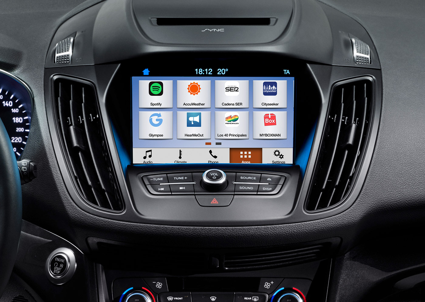 ford sync 3 is also heading to europe this summer. Black Bedroom Furniture Sets. Home Design Ideas