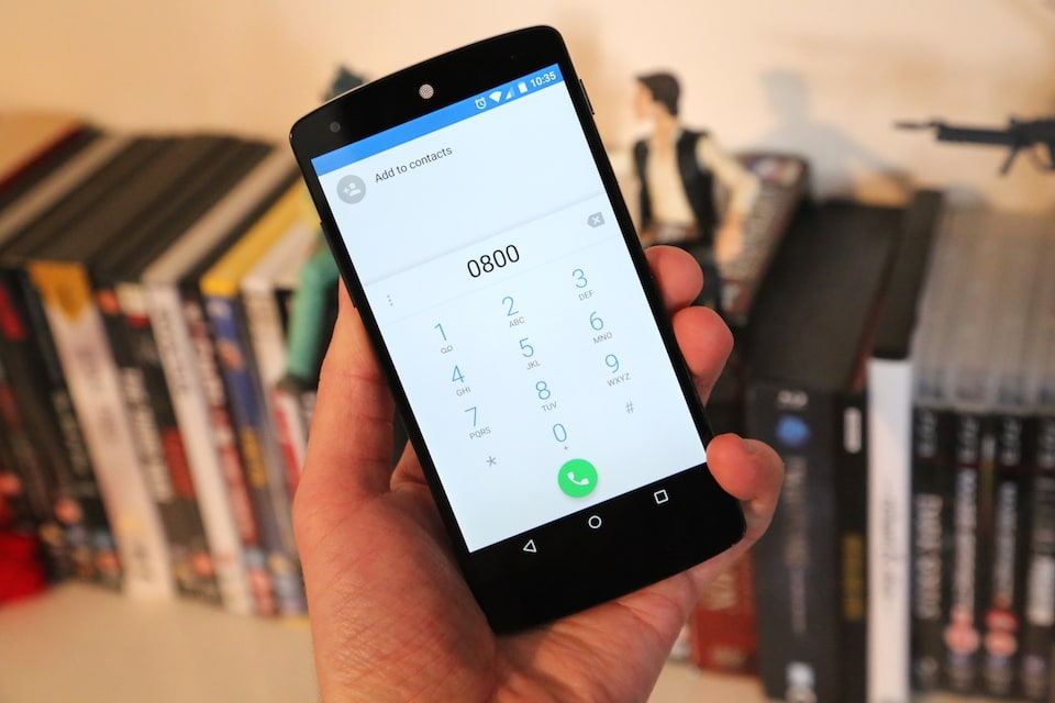 how to call 0800 free from mobile