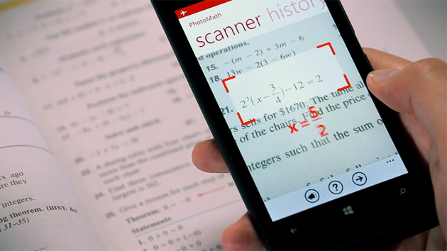 PhotoMath uses your phone\'s camera to solve equations