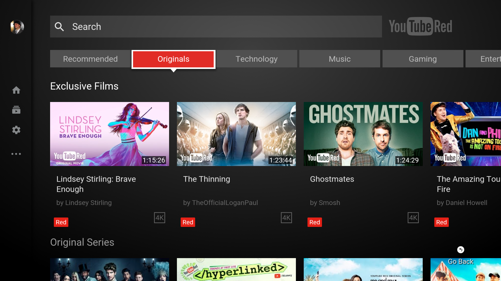 youtube on android tv plays catch up with new design auto play controls