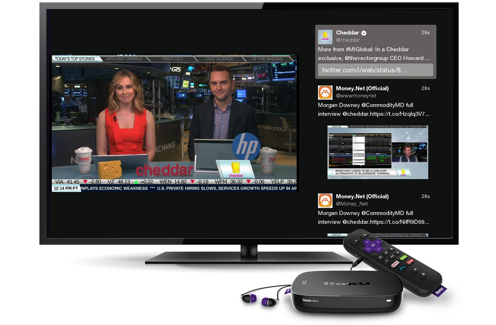 roku 39 s twitter channel brings livestreams to your living room. Black Bedroom Furniture Sets. Home Design Ideas