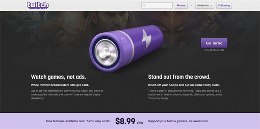 twitch unveils new turbo ad free paid access. Black Bedroom Furniture Sets. Home Design Ideas