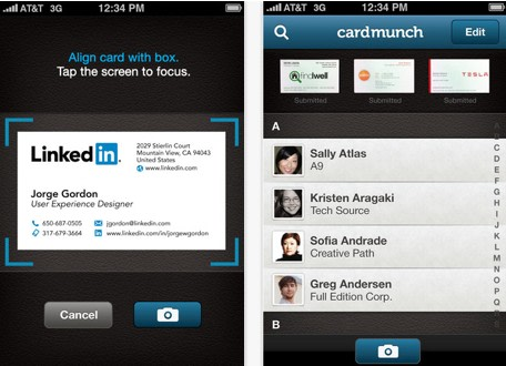 Cardmunch app adds linkedin profiles some of you may remember cardmunch before linkedin acquired it earlier this year the app lets you scan business cards and add them to a contact list colourmoves