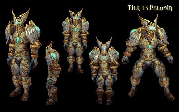 Paladin tier 13 armor set revealed paladins all of your griping about how paladin armor doesnt look like paladin armor appears to have made a distinct impression with blizzard artists publicscrutiny Gallery