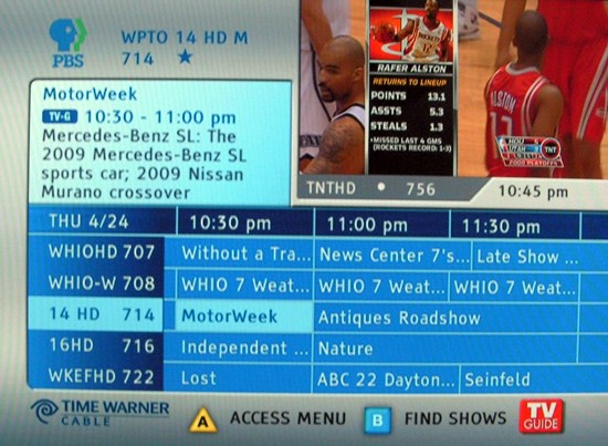 Time warner cable tv guide canton ohio