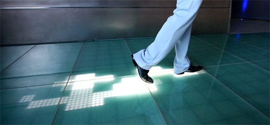 Video Sensacell S Interactive Floor Shows Trail Of Led