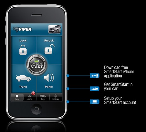 viper security launches smartstart iphone app for well appointed whips. Black Bedroom Furniture Sets. Home Design Ideas