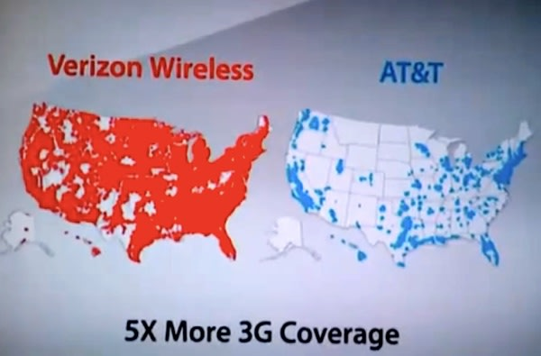 ATT Sues Verizon Over Theres A Map For That Ads - Verizon cell phone coverage map