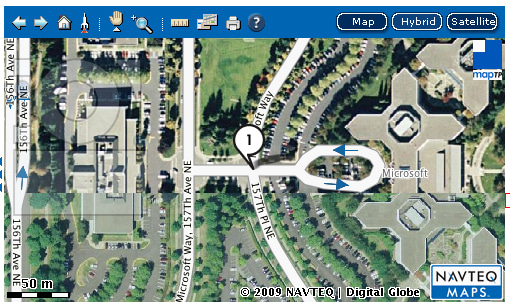 NAVTEQ Microsoft Team Up For Better D Maps - Microsoft satellite maps