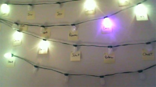 Christmas lights hack puts your im contacts on the wall above your as you well know if it exists it can be hacked and what better way to ring in the holidays than by taking a string of ge color effects g 35 lights and aloadofball Gallery