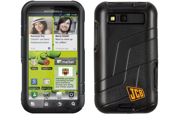 Everyone Loves Diggers Motorola S Let That Natural Fascination Get The Better Of It By Teaming Up With Digger Maker Jcb To Produce A Ruggedized Version