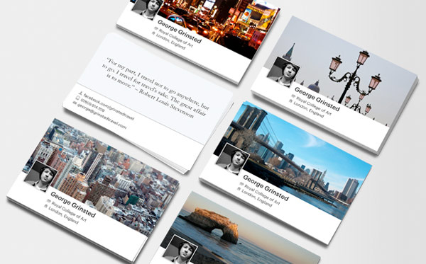 Moo makes business cards from your facebook timeline image credit reheart Image collections