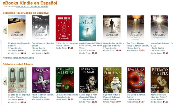 Amazon launches kindle ebook store en espa ol over 33 000 for Libreria amazon