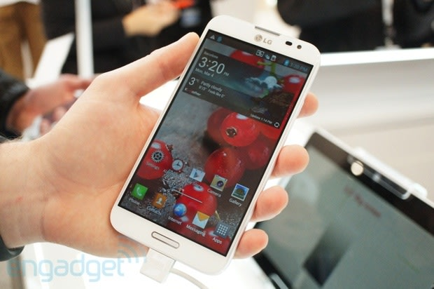 LG Optimus G Pro: hands-on with the new Snapdragon 600 ...